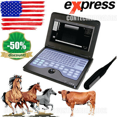 Veterinary portable Ultrasound Scanner 7.5M Rectal VET Machine cow/horse/Animal