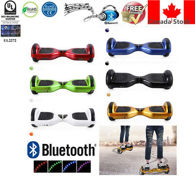 "6.5"" 2Wheel Bluetooth Smart Balance Electric Scooter HooverBoard+Bag+Marquee"