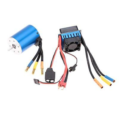 3650 3100KV 4P Sensorless Brushless Motor+60A Brushless Regler für 1/10 RC U2B0