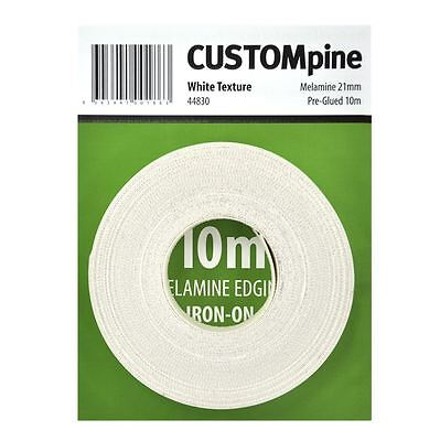 CustomPine White Iron On Melamine Edging Tape for 16mm Board - 21 mm x 10m