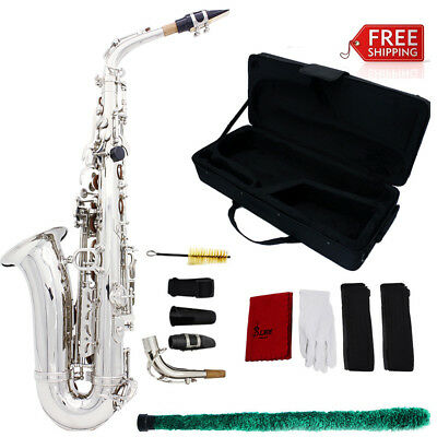Saxophone Sax Eb Be Alto E Flat Brass with Gloves Cleaning Cloth Brush Straps