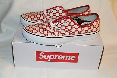 2db7c9f29e0ed7 SUPREME X VANS Authentic Red Checker Logo (Size 10) -  1