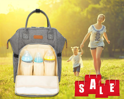AU Multifunctional Baby Diaper Backpack Changing Bag Nappy Mummy Handbag  Travel