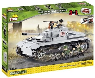 Small Army 2461, WW II German medium tank Panzer IV ausf H, 400 building