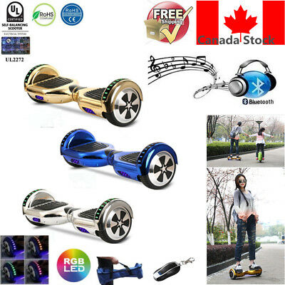 "6.5"" 2 Wheel Bluetooth Smart HooverBoard Electric Scooter Plating UL2272 + Bag"