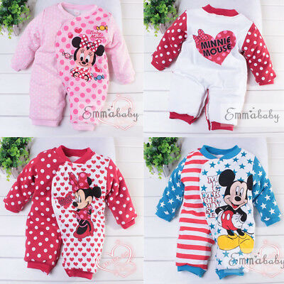 Newborn Kids Baby Girl Boys Long Sleeve Bodysuit Romper Jumpsuit Outfit Clothes