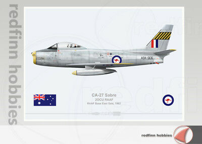 Warhead Illustrated CA-27 Sabre 2OCU RAAF A94-906 Aircraft Print