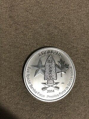 Canada 1/2 Ounce Oz Silver 2014 2 Dollars First Special Forces Service Canadian