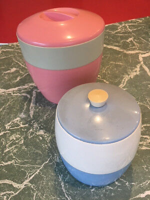 Retro Sweet 50's Canisters pink and blue