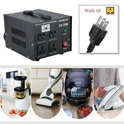 STU-2000 2000W Watt Step Up Down 110V 220V USB Voltage Converter Transformer UR