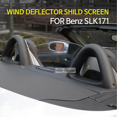 Wind Deflector Wind Screen Blocker With AMG Sticker Decal for Benz SLK R171