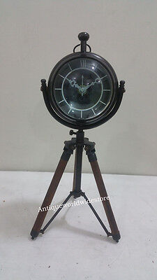 Authentic  Antique look  Round Desk Table Top Clock with home decor
