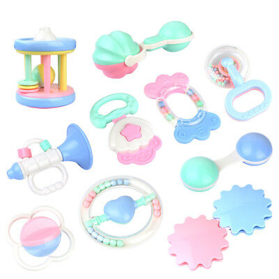 Safety Kids Baby Toddler Teether Hand Shake Bell Ring Funny Educational Toys