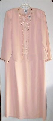 R & M Richards Formal Jacket Dress-Floor Length-Size 22W-Blush-Worn Once