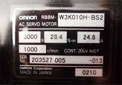 Used 1 Pcs R88M-W3K010H-BS2 Omron Servo Motor Tested nl