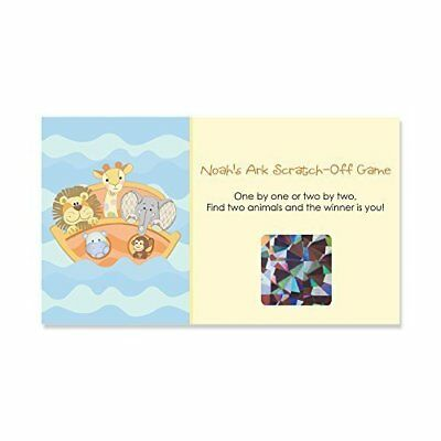 0a1b867f3 Noah's Ark - Baby Shower or Birthday Party Game Scratch Off Cards - 22 Count