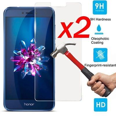 2x 9H Premium Tempered Glass Screen Protector Cover Film For Huawei Honor 9