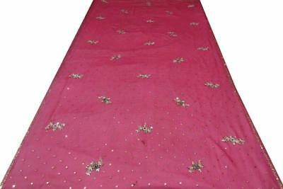 Indian Traditional Purple Vintage Dupatta Sequins Veil Scarf Hijab Women Stole