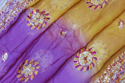 Indian Traditional Vintage Purple Dupatta Sequins Veil Scarf Hijab Women Stole