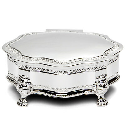 NEW Whitehill Louis Large Silver Plated Jewellery Box