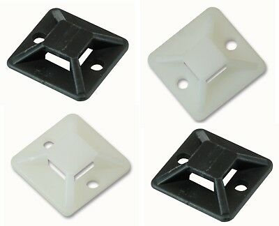 Self Adhesive Cable Tie Bases Mounts Clips Clamps Holders for Wire BAG OF 10