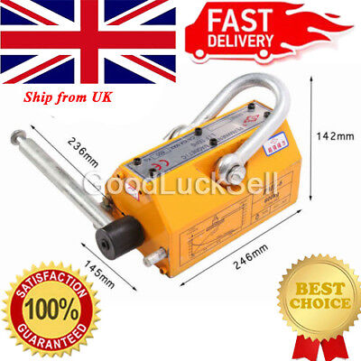 600KG Steel Permanent Magnetic Lifter Heavy Duty Crane Hoist Lifting Magnet 1320