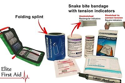 AUSTRALIAN SNAKE BITE KIT AND SPIDER BITE FIRST AID KIT - with Indicator Bandage