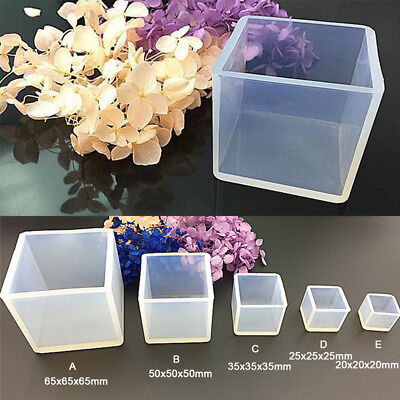 DIY Silicone Pendant Mold Jewelry Making Cube Resin Casting Mould Craft Tool RN