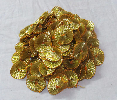 New Gold Gotta Patti Fabric Patches Sewing Craft Floral Appliques Accessories