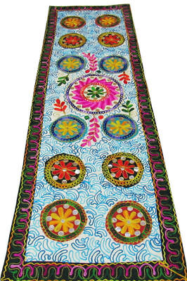 "I50"" X16"" Indian Embroidery Work Wall Tapestry Wall Decoration Table Runner Thro"
