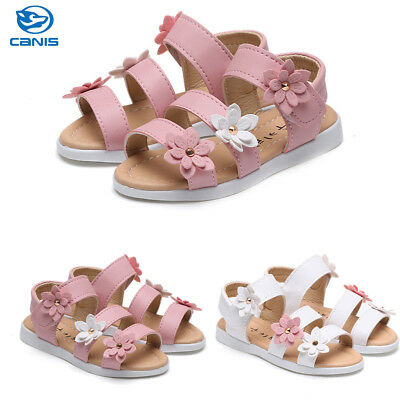 AU Stock Baby Girls Soft Sole Sandals Toddler Kids Shoes Floral Summer Sandal