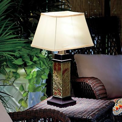 Faux Slate Battery Operated Outdoor Table Lamp Patio