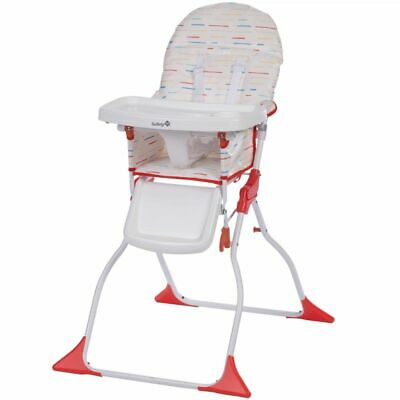 Safety 1st Folding High Chair Keeny Red Lines White Child Stool 2766260000