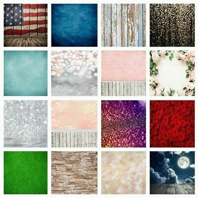 3x5ft/5x7ft Vintage Wood Flower Photography Backdrops Glitter Baby Studio Props