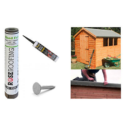 Green Shed Felt Roofing Felt 6m Includes Felt Nails and Everbuild Adhesive Kit