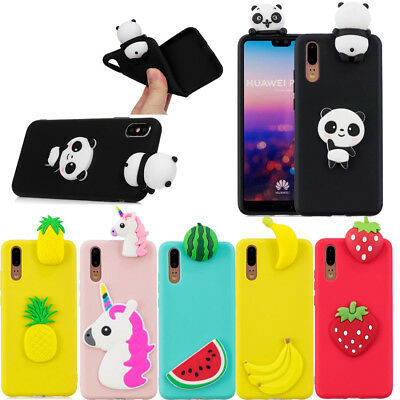 3D DIY Candy Color Cartoon TPU Soft Silicone Case Cover For Huawei P20 P20 Lite