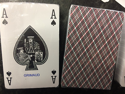 Grimaud casino quality Playing Cards top quality brand new plain white boxed