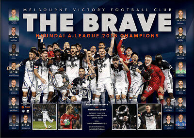 Melbourne Victory 2018 A-League OFFICIAL Champions Team Print ONLY - KOSTA