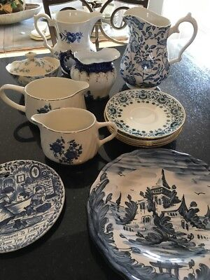Mixed lot of Blue and White porcelain - Minton, Wedgewood, Churchill +