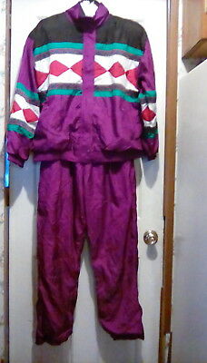 Vtg LAVON by Cheerful Corp - 100% Nylon WINDBREAKER / TRACK SUIT - size Large