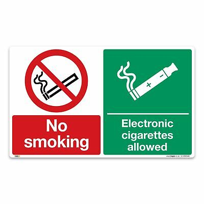 No smoking, e-cig's allowed - Vinyl Sticker - Prohibition Safety Information