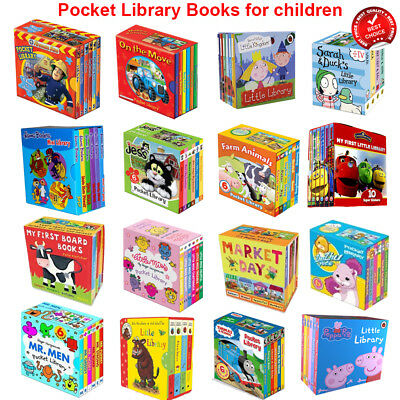 Pocket Library Books Set Childrens Collection Peppa Pig Little Miss My First NEW