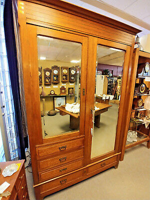 HEIRLOOM wardrobe handcrafted furniture French end Edwardian post war armoire