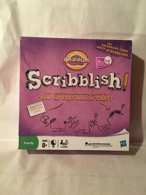 Cranium Scribblish Board Game How Did This Become That? NEW Sealed.