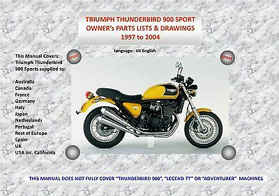 triumph thunderbird sports 900 parts manual 97 04 a4 wire bound rh picclick co uk Triumph Thunderbird 900 Sport triumph thunderbird 900 repair manual