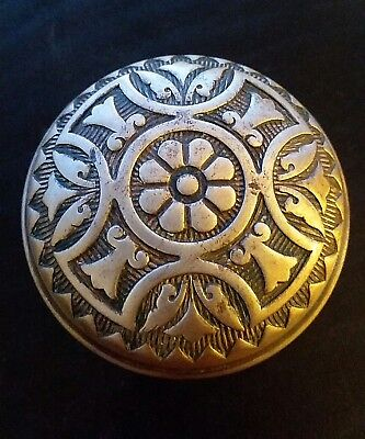 Beautiful Antique Victorian Eastlake Brass Bronze Door Knob Four Flower Floral