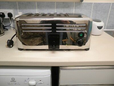 Burco TSSL16CHR Professional Catering 6 Slice Toaster