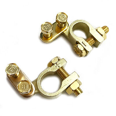 Small Car Battery Terminals Basic Universal 35mm Positive + 34mm Negative