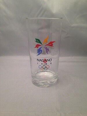 Nagano 1998 Winter Olympics Collectible Glass