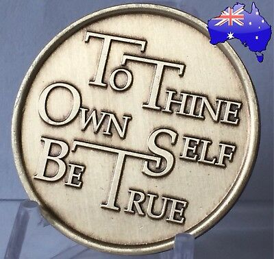 AA Alcoholics Anonymous Be True bronze sobriety coin token medallion AA NA Gift